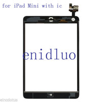 Wholesale 20PCS OEM Screen Glass Digitizer Replacement Black For iPad Mini With IC Adhesive Free DHL EMS