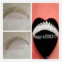 Tiaras&Crowns Rhinestone/Crystal  Graceful Highly Recommended Shining Royal Wedding Veil rhinestone bridal Crystal Wedding Crown hair Tiaras accessory