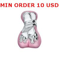 Charms for locket mixed BALLET SLIPPER Glass Floating charms for memory living locket wholesale