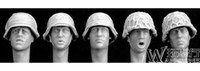 Wholesale Grp Min Order Mix in Grp World War II Resin Soldier Figure Spare Heads Style NO Resin Figure Un Painted