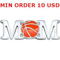 Charms for locket mixed BASKETBALL MOM Glass Floating charms for memory living locket wholesale