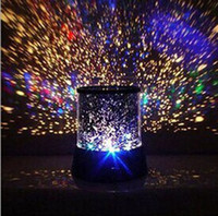 Wholesale 2014 New style Colorful cosmos stars laser LED projector Star Projector Lamp LED Night light lantern