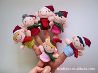 Christmas Finger Toys Baby Plush Toy Finger Puppets Talking ...