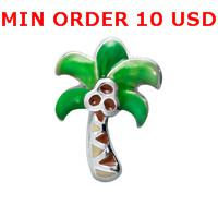 Wholesale PALM TREE Glass Floating charms for memory living locket
