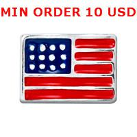Charms for locket mixed AMERICAN FLAG Glass Floating charms for memory living locket wholesale