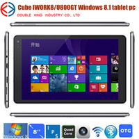 Wholesale Cube U80GT iwork8 iplay8 X86 GHz CPU Intel Z3735E Atom Quad Core Windows tablet pc inch IPS GB RAM GB Dual Camera HDMI