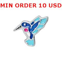 Cheap Charms HUMMINGBIRD charms Best for locket mixed hummingbird glass