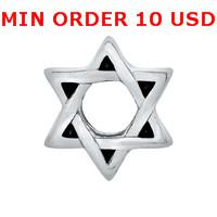 Charms for locket mixed SILVER STAR OF DAVID Glass Floating charms for memory living locket wholesale