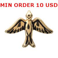 Cheap Charms GOLD SPARROW charms Best for locket mixed sparrow glass