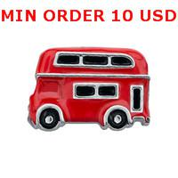 Charms for locket mixed DOUBLE DECKER BUS Glass Floating charms for memory living locket wholesale
