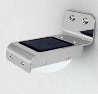 Precio de Luces led solar led solar-Alto brillo 16 LED de sonido del sensor Solar Powered luz impermeable al aire libre llevó luz de la lámpara de la pared de la lámpara de jardín de luz fácil de instalar