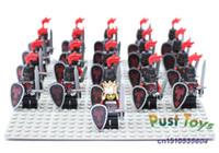 Wholesale Castle Roman Knight series Dragon Cavaliers Samurai Minifigures DIY building block sets children s toys
