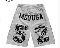 Wholesale Medusa Number Shorts Hip Hop Style Fashion Trend Shorts Men Women Hip Hop Trend Shorts Middle Pants grey shorts