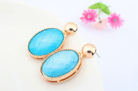 Wholesale Stylish and elegant boutique water drop earrings A2