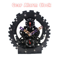 Mechanical Desk Clocks Jumping movement 1pcs High Quality Home Decor Alarm Clock & Desk Clock With Quartz Movement Gear Clock