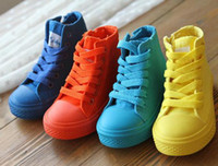 Wholesale 2014 spring and autumn toddler boots high canvas shoes for boy and girl kids rubber outsole pair yard cm