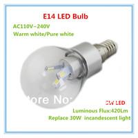 Wholesale 4pcs led globe bulb e12 smd w led lamp e14 v light warm white pure white