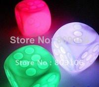 Cartoon cool led gadgets - color Led Dice Light Party Kid Bar Cool gadget Light Lamp Kids Party Favours