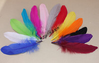 Wholesale Fashion DIY floating feathers Black hard float goose feather Clothing supplementary material Decoration accessories cm