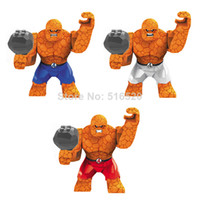 Wholesale Fantastic Four The Thing cm High Figures Building Blocks Sets Model Colors Marvel Super Hero The Avengers Classic Toys Decool