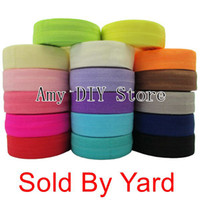 fold over elastic - 17colors Fold Over Elastic inch FOE girl DIY accessories Stretchy Shiny band selling by yard NO MOQ yards cmY