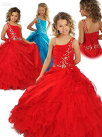 Cheap Reference Images Flower Girls Dresses Best Girl Beads Princess Gown