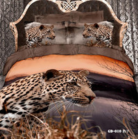 forever leopard print bedding - Leopard D Comforters Bedding Sets Queen King Size Cotton Fabric Quilt Duvet Cover Flat Fitted Bed Sheet Pillowcase