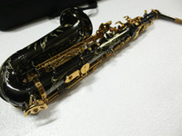 Wholesale Newest Black Nickel Selmer Alto Saxophone BEST Saxophone FREE CASE