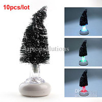 Christmas Tree No No Wholesale - Color Changing Fiber USB Optical Christmas Tree LED Lamp 10pcs lot