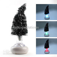 Christmas Tree No No Wholesale - Color Changing Fiber USB Optical Christmas Tree LED Lamp
