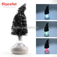 Christmas Tree No No Wholesale - Hot Sale Color Changing Fiber USB Optical Christmas Tree LED Lamp 50pcs lot