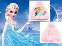 Wholesale 9 off in stock Fashion Lovely Comfortable New Snow adventure Frozen elsa anna Princess hat DROP SHIPPING hot sale LL