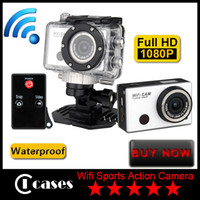 Wholesale New Wifi CAM Full HD P Extreme Sports Action Camera Waterproof Sports Video Camera Camcorder DV IR Remote Control By Phone Tablet DHL