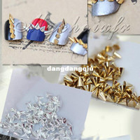 Wholesale x Punk Rock D Nail Art Alloy Rivet Studs Pyramid Spikes Rhinestones Glitters DIY Decoration Retail