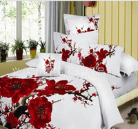 Wholesale Cotton fully active D stereoscopic three dimensional reactive printing bedding set