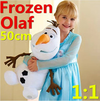 Wholesale 50cm Frozen Olaf Plush Toys Cartoon Movie Dolls Stuffed Toy Dolls Large Size Snowman Children Gift