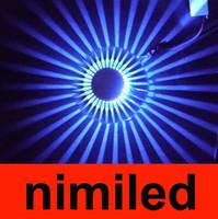 nimi366 3W Вентилятор Star LED Настенный светильник Бра Крепеж Свет лампы Лампы фон огни Sun Effect КТВ Бар Освещение Настенный / Ressessed
