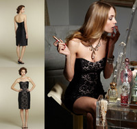 Cheap Reference Images Lace Bridesmaid Dress Best Lace Sleeveless Black Bridesmaid Dresses