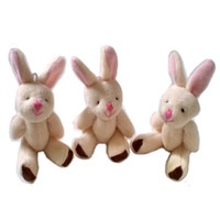 Wholesale 100 Baby Plush Toy Finger Puppets Talking Props Joint Rabbit CM Finger Toys Phone pendant