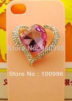 Yes conli DIY Decoration Wholesale-2014 New Promotion Freeshipping Free Shipping!min.order Is (mix Order) Heart Glass Stones Alloy Diy for Cell Phone 3pcs Dy490