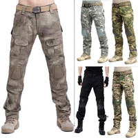 Wholesale Men Military Army Tactical Series Airsoft Paintball Hunting BDU Trousers Combat Gen3 Pants with Knee Pad Multicam MC ACU BLACK