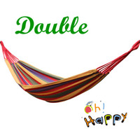 canvas   Outdoor Camping Double Hammock Swing thick canvas Leisure Hammock Tourism 200*150 CM Free Shipping