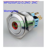 Cheap Push Button Switches metal switch Best MP025S/F22-E/D 304#Stainless steel 12v illuminated switch