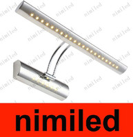 Wholesale nmi367 W W LED Wall Mounted Stainless Steel LED Mirror Front Lamp Cabinet Lights Bathroom Sink Dresser Lighting Bathroom Wall Lamps