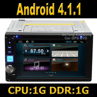 Wholesale Android System Car DVD GPS Head Unit Din Universal with Wifi TV Radio Audio Stereo Player G CPU and G DDR