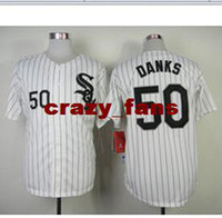 "Baseball Men Short Discount Discount Chicago ""White Sox"" #50 John Danks White Authentic Baseball Jerseys for Cheap Men Cool Base Baseball Shirts High Quality J"