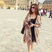 Print c033 - Fluid female national trend vintage scarf cape dual use ultra long C033