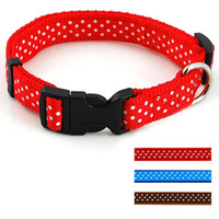 2. 0cm Width Nylon Cute Dots Printed Dog Puppy Cat Collars Va...