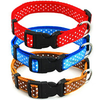 2. 0cm Width Nylon Cute Dots Printed Dog Puppy Cat Collars 3 ...
