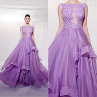 Puffy Lavender Lilac Prom Dress Bling Sexy Evening Dresses P...